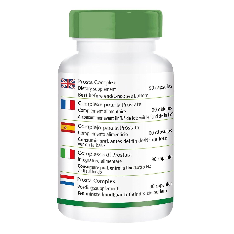 ... 90 cápsulas - con selenio, zinc, palma enana americana, licopeno, beta-sitosterol y Opuntia - para la próstata: Amazon.es: Salud y cuidado personal