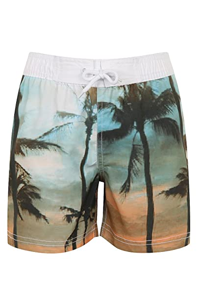 248b46e8b47de Boys Nifty Kids Printed Swimming Board Shorts Hawaiian Beach Surf Trunks:  Amazon.co.uk: Clothing