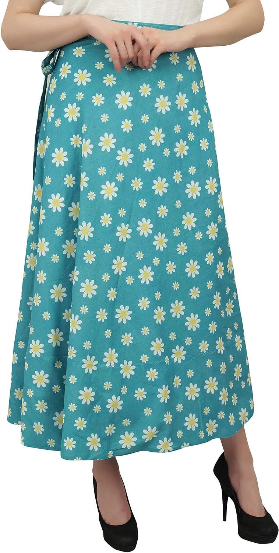 Phagun Impreso Floral Indio Desgaste Reversible Azul Turquesa ...