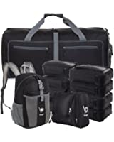 Lightweight Family Travel Luggage Set - Duffle Bag Backpack Toiletry Pack Cubes