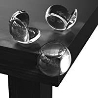 Corner Protectors (Pack of 24) - Table Corner Guards for Baby, Kids, Toddlers, Child Safety - Baby Proofing Edge Protectors for Furniture, Non-Toxic Adhesive Clear Round Bumpers by Direct From Factory