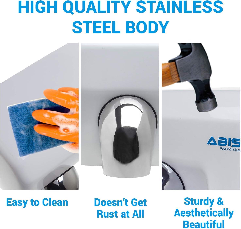 ABIS Secador de Manos Alta Velocidad el/éctrica autom/ática Comercial de Acero Inoxidable para Servicio Pesado