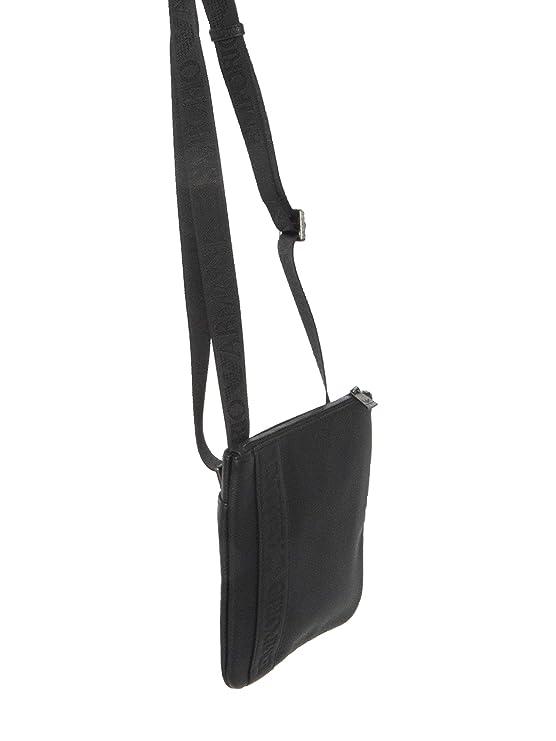 eb245295ea3e Amazon.com  Armani Women s Emporio Logo Embossed Shoulder Bag One Size Black   Emporio Armani  Shoes