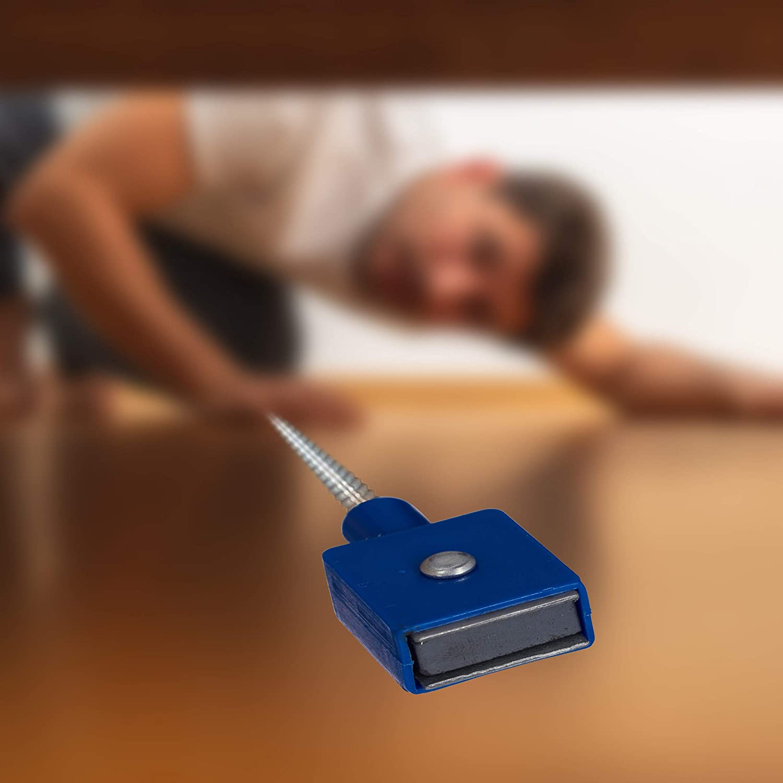 Silber Magnetheber Greifkralle 600 mm biegsam Krallengreifer flexibel Relaxdays Greifwerkzeug im 2er Set Magnet