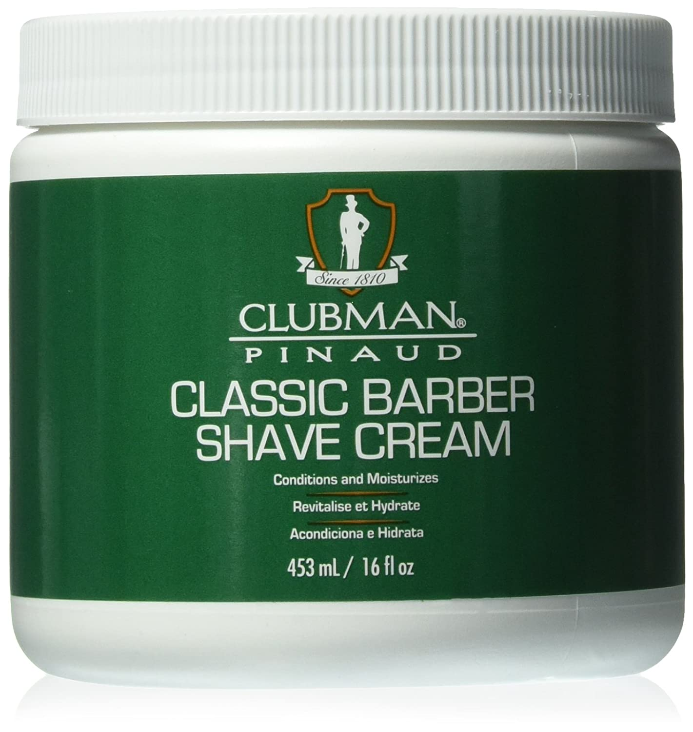 Clubman Pinaud Classic Barber Shave Cream, Conditioner and Moisturizes, 16 fl oz/453 mL 40329
