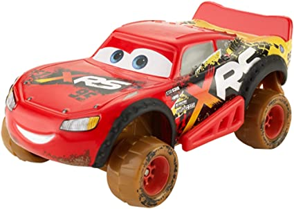 Amazon Com Disney Pixar Cars Xrs Mud Racing Lightning Mcqueen Toys