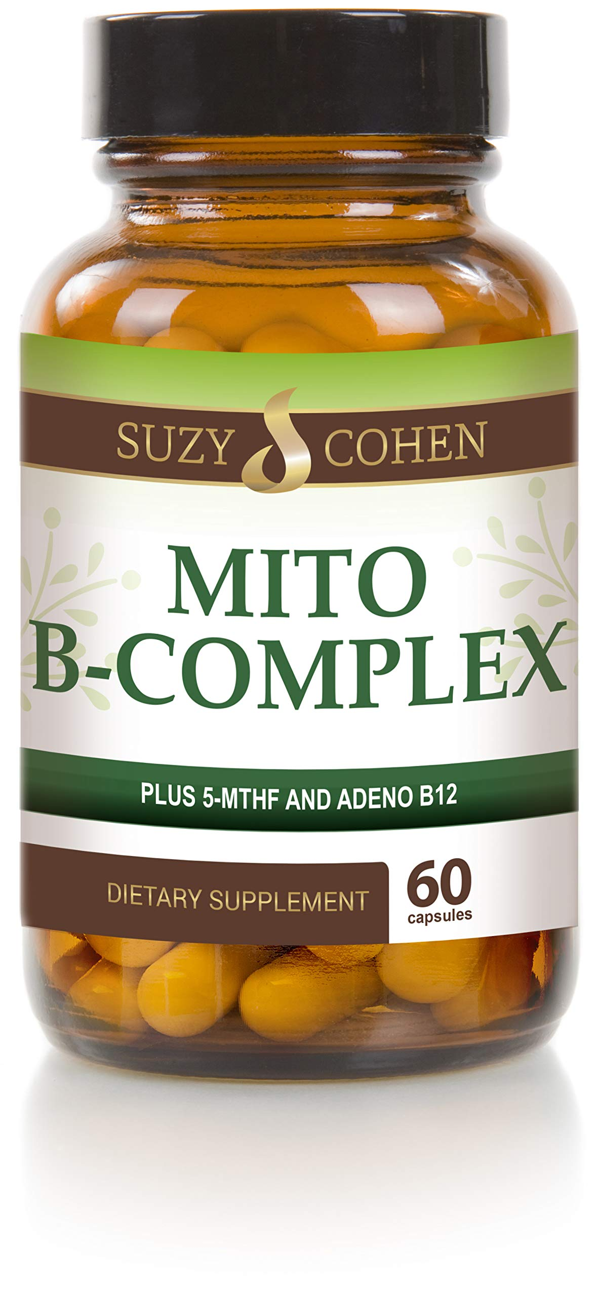 Mito B Complex - Vegan Mito B Complex with 5-MTHF and Adeno B12-60 Servings - by Suzy Cohen, RPh