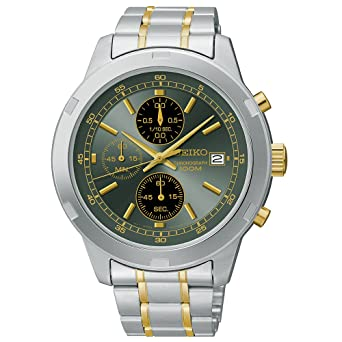 31be1dcad Image Unavailable. Image not available for. Color: Seiko Chronograph Silver  ...