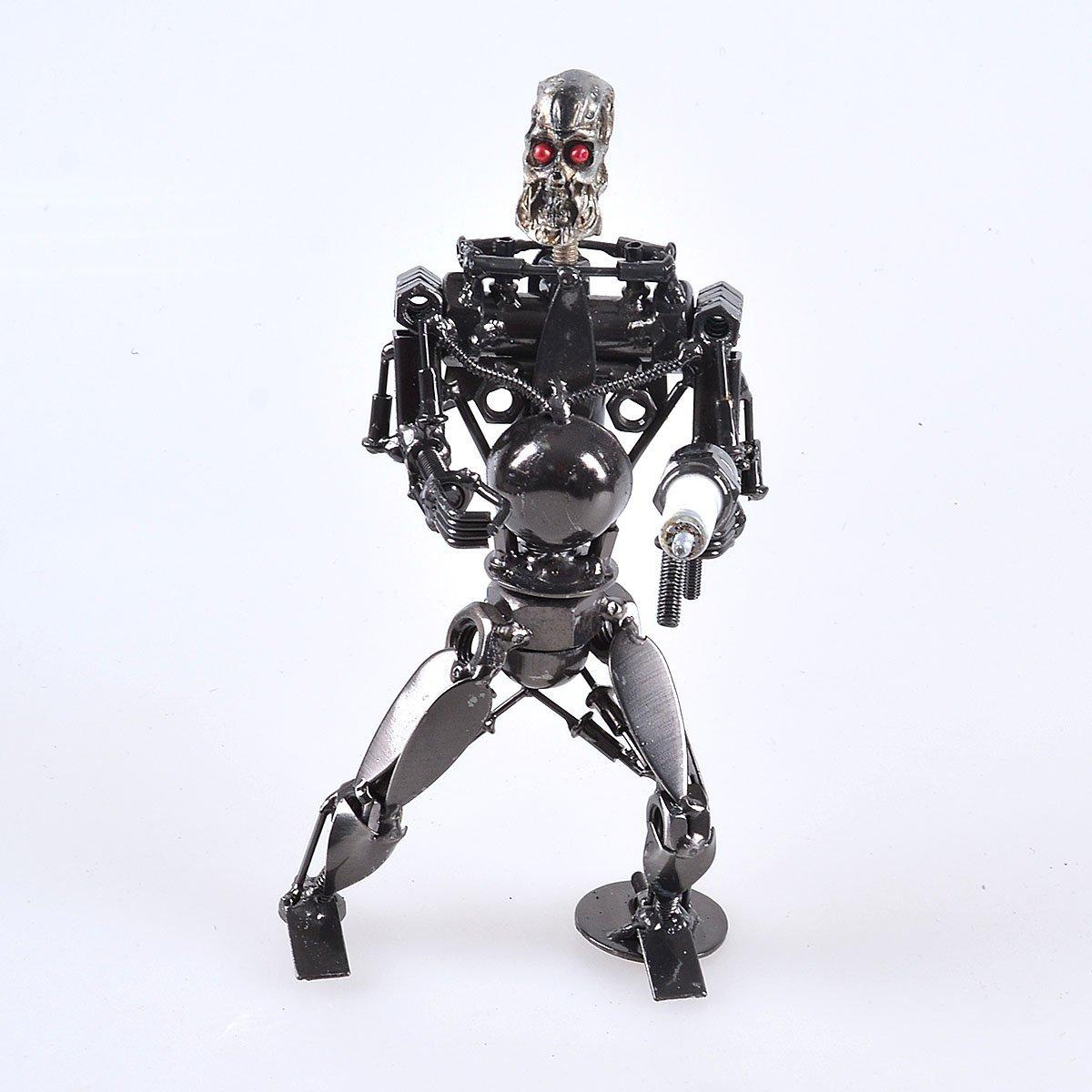 Largo SHENG hecho a mano robot Terminator obras de arte de metal escultura modelo retro, metal, style8: Amazon.es: Hogar