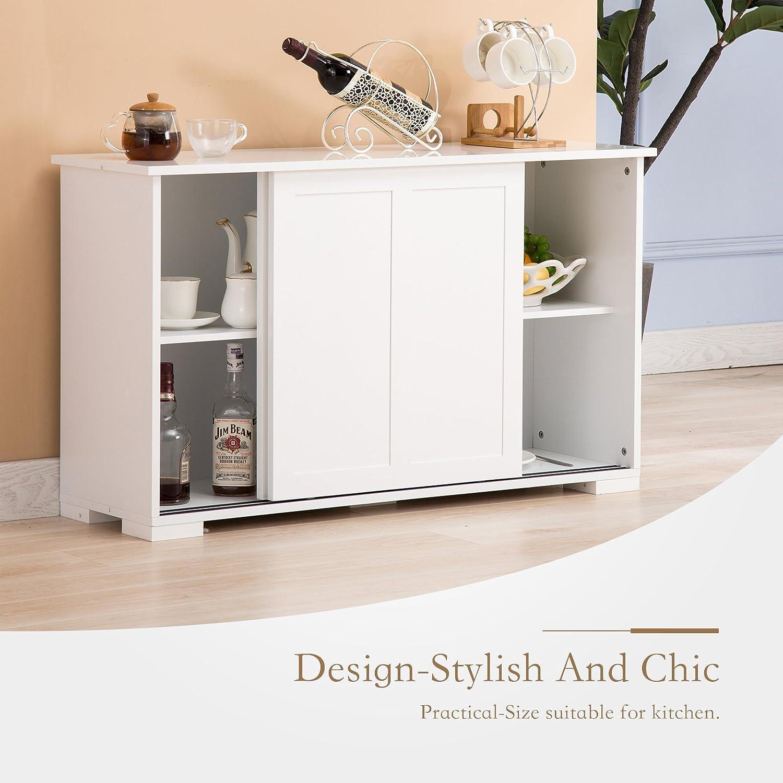 Amazoncom  Mecor Cupboard Buffet Storage Cabinet Sideboard 2 Sliding