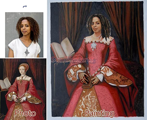 Custom Oil Portrait Painting Paint Your Face Onto Master Famous History Original Family