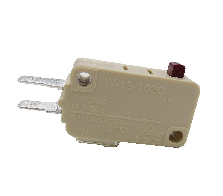 10 piezas Microondas Horno de tres pines Microswitch Interruptor ...
