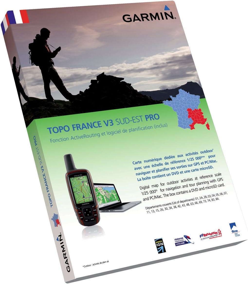 Garmin Topo France V3 Pro Sud EST - Mapas para GPS, Cobertura geográfica Sureste de Francia, ActiveRouting, Escala 1:25.000: Amazon.es: Deportes y aire libre