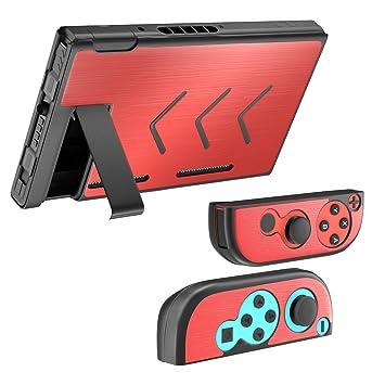 MoKo Nintendo Switch Case, Diseño de segmento, Carcasa Aluminio con Interruptor Conjunto, Amortiguación y Anti Arañazos para Nintendo Switch Consola & ...