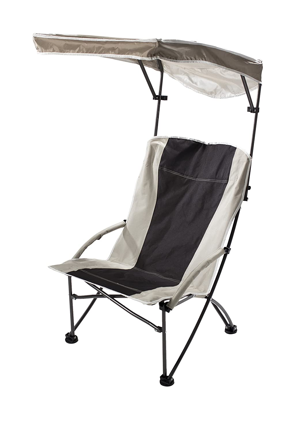 Outdoor canopy chair - Amazon Com Quik Shade Pro Comfort Folding High Camp Chair Black White Sports Outdoors