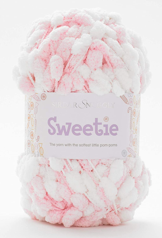 200g Sirdar Snuggly Sweetie White Pom Pom Yarn