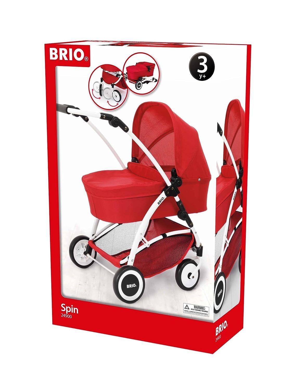 Babypuppen & Zubehör Hilfreich Brio Puppenwagen Spin Mit Schwenkrädern Puppen Wagen Puppenkinderwagen Rot Spielzeug