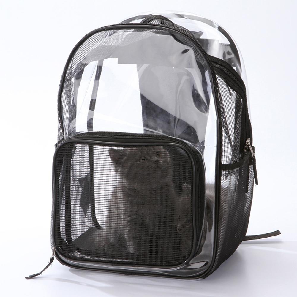 Daeou Pet Backpack Pet Double Shoulder Bag pet Backpack cat Dog Universal Transparent Backpack Travel Out of Bag 42x30x20cm