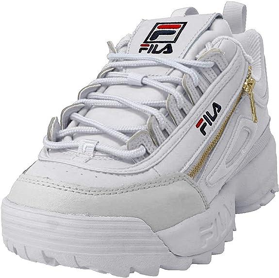 Fila Womens Disruptor 2 Zipper Sneakers: Amazon.es: Zapatos y complementos