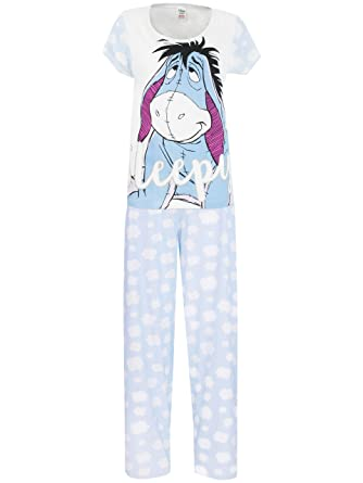 Disney Eeyore Womens Eeyore Pajamas Small