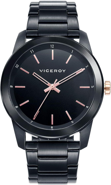 Viceroy Reloj Analogico para Hombre de Cuarzo con Correa en Acero Inoxidable 46727-57
