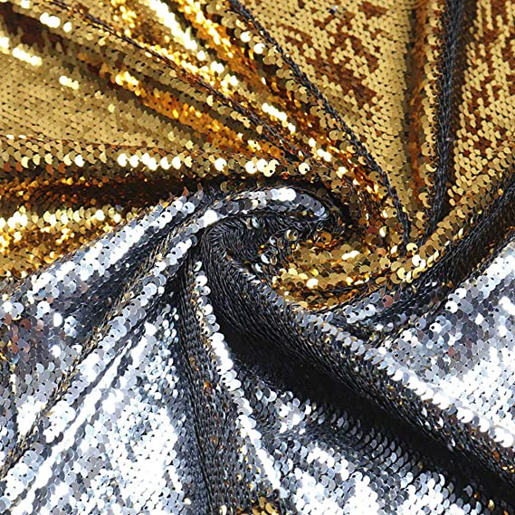 Non-stretch Light Gunmetal Sold By The Yard Sewing Materials Paisley Matte Sequins On Polyester Mesh Costume Fabric DIY Fabric