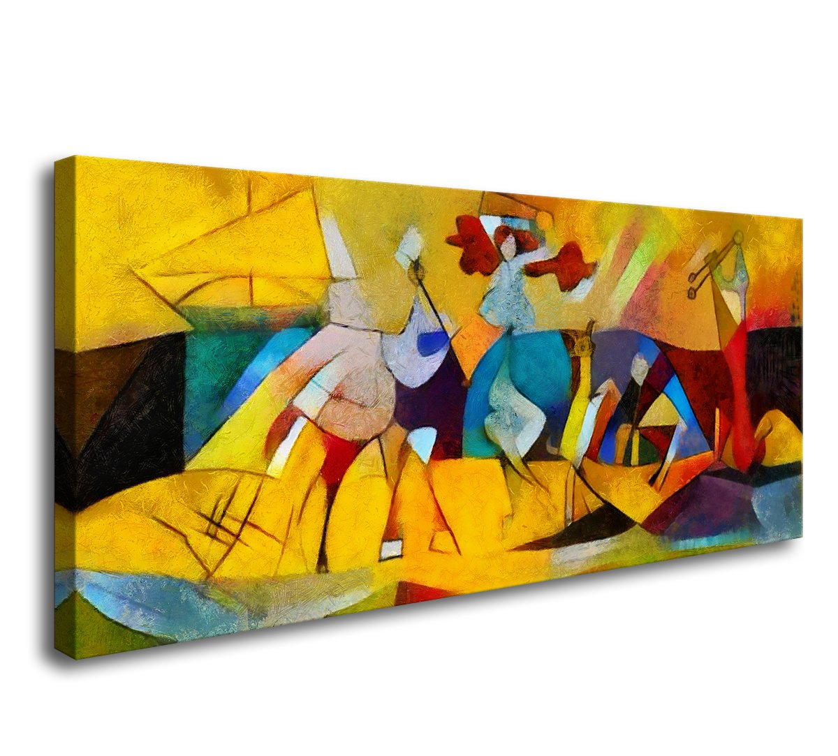 DZL Art A71450 Framed Wall Abstract Paintings Canvas Print Painting ...