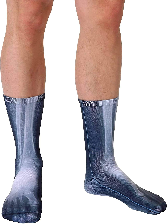 X-Ray Photo Print Crew Socks