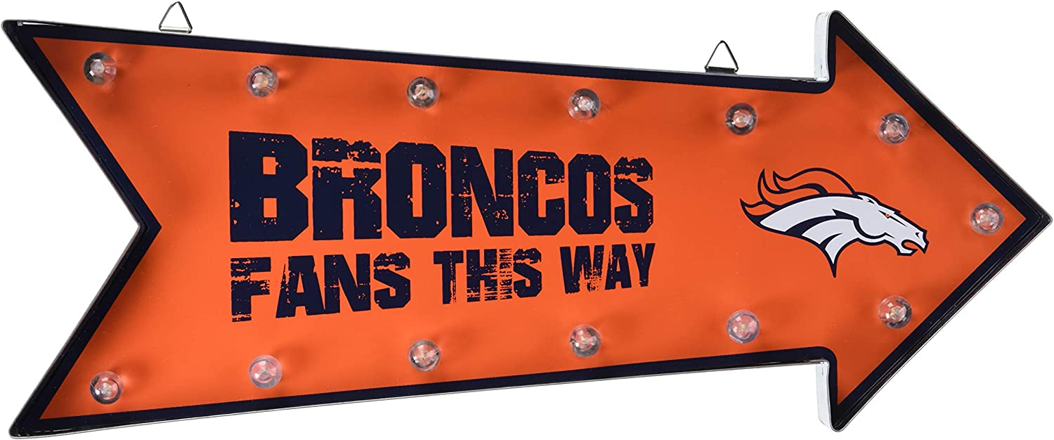 FOCO NFL RUNNING LIGHT MARQUEE SIGN