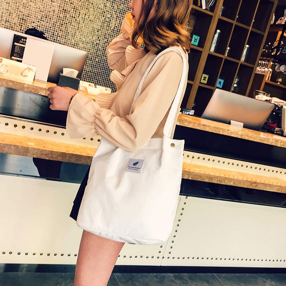 AchidistviQ Casual Gro/ße Kapazit/ät Cord Einkaufstasche Damen Reisetasche Handtasche Original koreanische Version von Kordsamt 4 Kn/öpfe Schnalle Canvas Tasche Gro/ße Kapazit/ät Literatur Rose