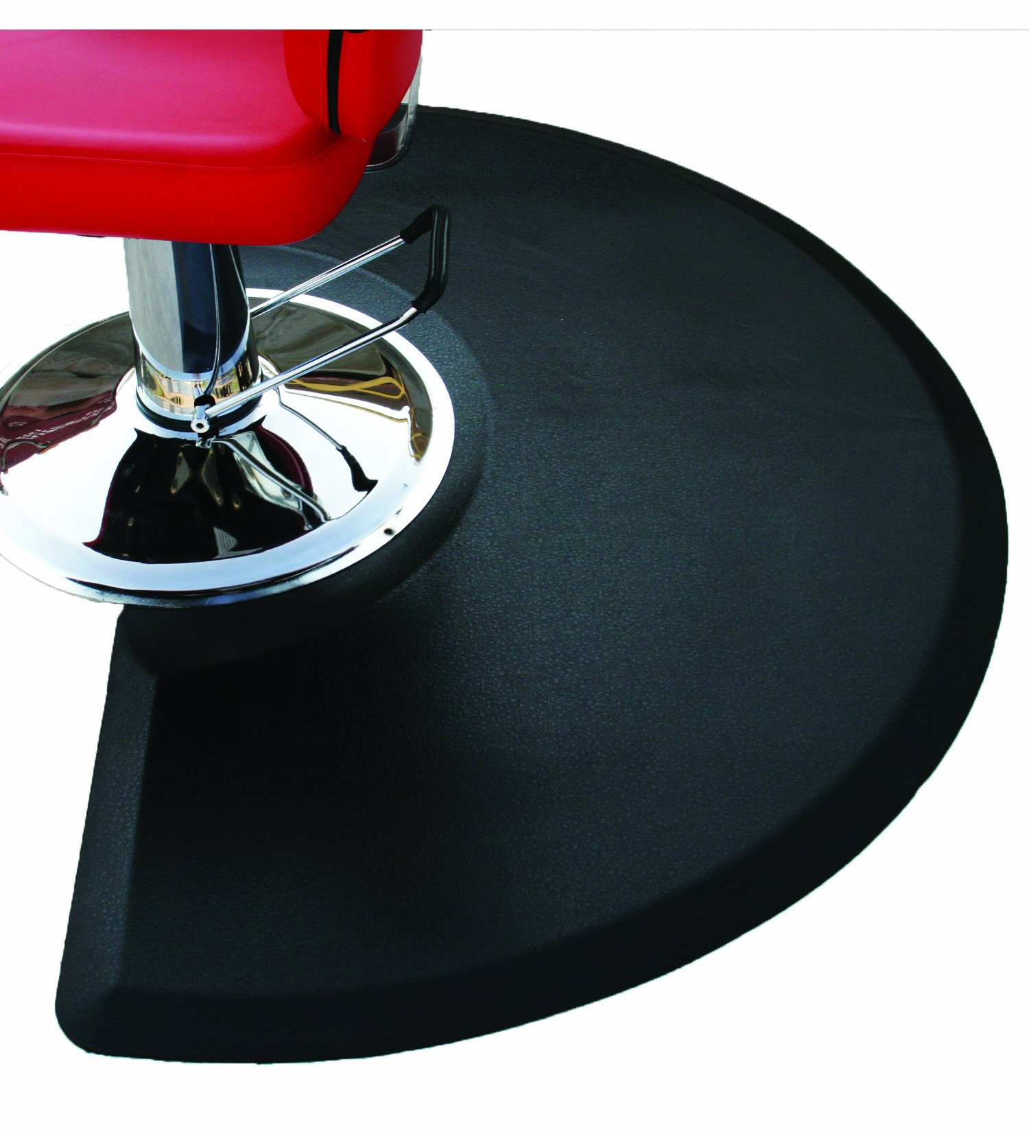 Rhino Mats CCC3660SC Comfort Craft Classic Salon Semi-Circle Mat, 3' Width x 5' Length x 3/4'' Thickness, Black