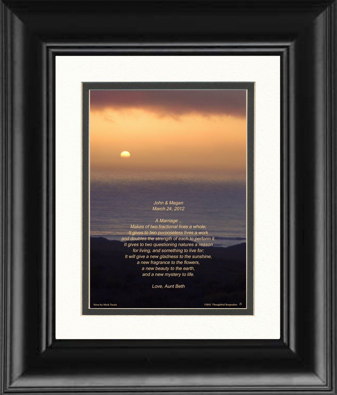 Amazon Framed Personalized Anniversary Or Wedding Gift For The