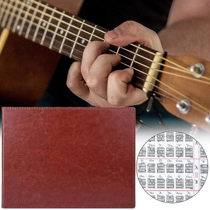 Tabla de acordes de guitarra Conveniente 6 cuerdas Diagrama de ...