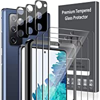 [6 Pack] LK 3 Pack Screen Protector for Samsung Galaxy S20 FE 5G + 3 Pack Camera Lens Protector Anti-Scratch (Easy…