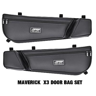 Can Am Maverick X3 PRP door bag bags BLK Set of 2 #E60-210: Automotive