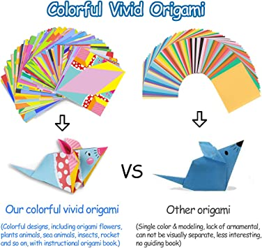 Childrens Day Gifts 80 Pages Instructional Origami Book 152 Sheets Double-Sided Origami with 72 Patterns hapray Origami Kit for Kids Beginners Origami Paper for DIY Art and Craft Projects