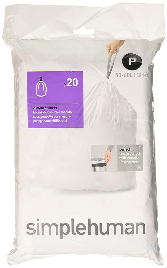 13 opinioni per simplehuman CW0175 trash bag- trash bags (White, Plastic)