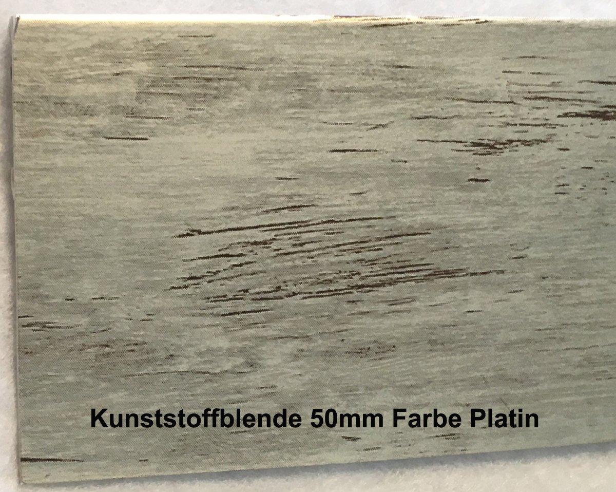SM-Plus Gardinenschiene Gardinenleiste 2-läufig mit Blende Kupfer Antik 50mm
