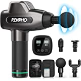 RENPHO Massage Gun, Muscle Massager, Powerful Percussion Massager Handheld with Portable Case for Athletes, Back Neck Shoulder Soreness Stiffness Knots Tension Cramp Relief