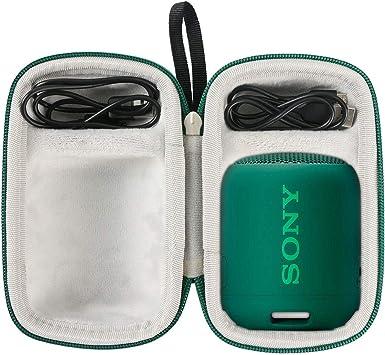 Extra Bass Bluetooth EVA Difficile Caso Viaggiare trasportare sacchetto by Khanka per Sony SRS-XB21 Altoparlante Wireless Portatile blu