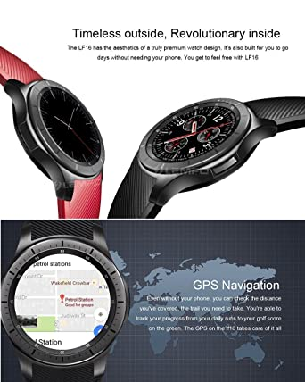 ⌚ LEMFO LF16 Bluetooth Smart Watch Phone with WiFi GPS 3G WCDMA Android Smartwatch Wristwatch Wearable Devices (Silver and White)