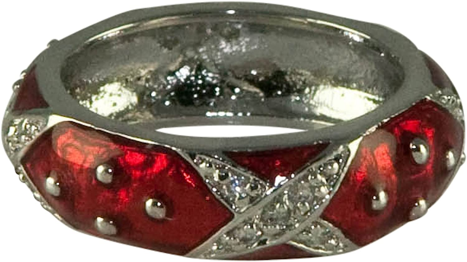 7 Row Silver Pave Crystal Open Ring HamptonGems Designer Inspired Love IT!!!!