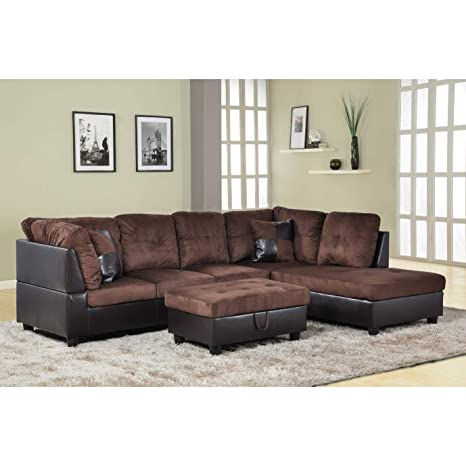 Amazon Com Aycp Furniture Right Facing Chaise Modern Living Room L