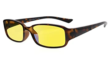 a37420300e96 Eyekepper 94% Blue Light Blocking Readers, Yellow Tinted Lens Computer  Glasses (Tortoise +