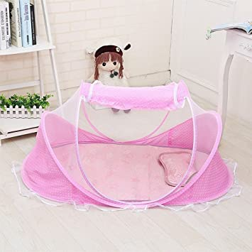N.C. Products Baby Travel Bed Portable Travel Beach Tent Pink Pop-Up Beach & Amazon.com : N.C. Products Baby Travel Bed Portable Travel Beach ...