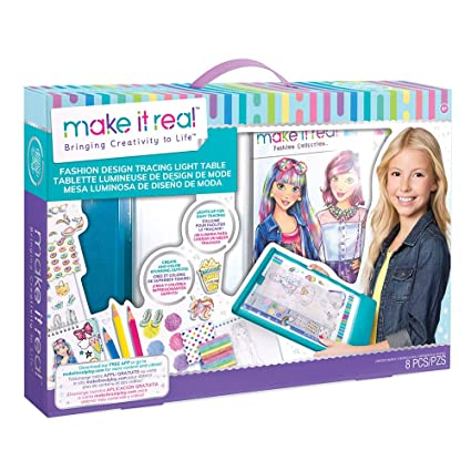 Fashion Design Drawing And Coloring Mega Art Set W Light Table Amazon In Home Kitchen