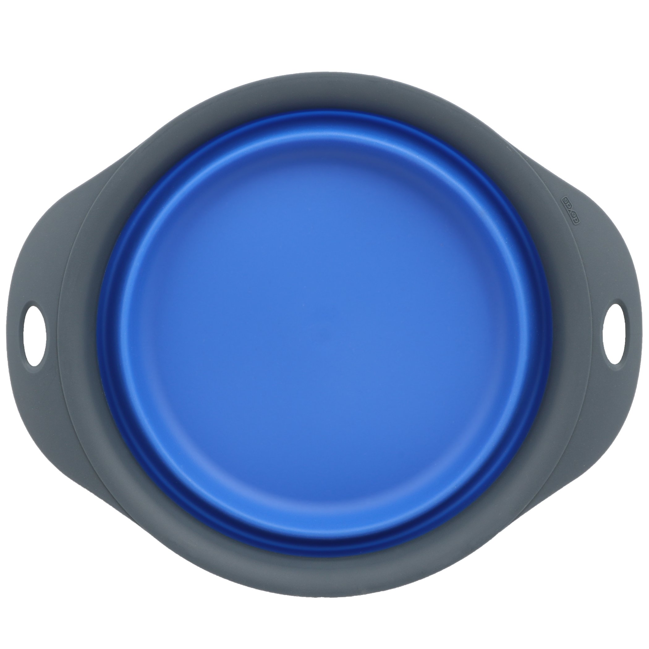 Dexas Popware for Pets Single Bowl Collapsible Travel Feeder, 6 Cup Capacity, Royal Blue