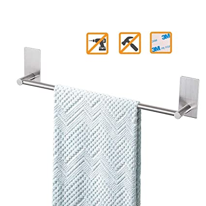 Swell Bathroom Towel Bar 16Inch Easy Install With Self Adhesive No Drilling On Walls Premium Sus304 Stainless Steel Brushed Download Free Architecture Designs Rallybritishbridgeorg