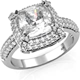 Sterling Silver Cz Wedding Bands