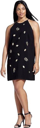 فستان نسائي أسود مزين بحشرة من فيكتوريا بيكهام
